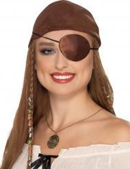 Brun ögonlapp för sjörövare