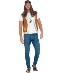 Tuff hippieväst med fuskpäls - Maskeradkläder för vuxna