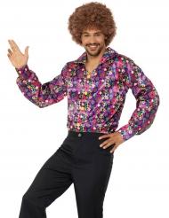 Hippie fredsblomma skjorta herr