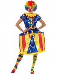 Clownen cirkustält - Maskeraddräkt för vuxna med ljus