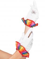 Clownens handskar - Maskeradtillbehör för vuxna