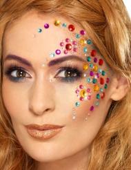 100 färgglada bitar strass för ansiktet