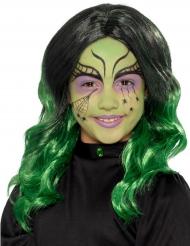 Svart och grön - Peruk till Halloween för barn