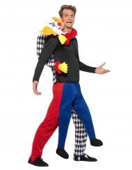 Kidnappad av en clown - Halloweenkostym för vuxna