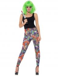 Leggings med skräckclowner - Maskeradkläder för vuxn