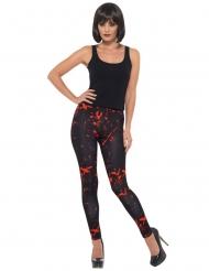 Blodiga svarta leggings för vuxna - Halloween tillbehör