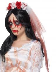 Blodig giftermålsslöja för vuxna - Halloween Tillbehör