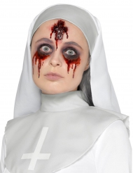 Fejk blodigt crucifixsår för vuxna- Halloween