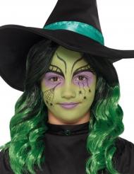 Häxans sminkningskit med spindel tatuering för barn - Halloween sminkning