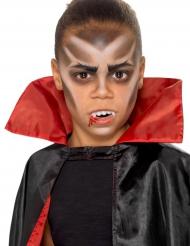 Vampyr smink och löständer för barn - Halloween sminkning