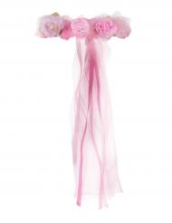 Vacker rosenkrans för barn till midsommar