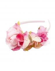 Rosa blomdiadem för barn till midsommar