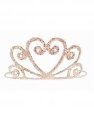 Gyllene och glittrande tiara för barn