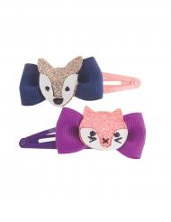 Vovvar och katter - 2 två överrasknings hårspännen