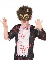 Läskig varulv - Halloweenmask i latex för barn