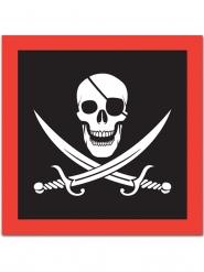 Jolly Roger - 16 servetter för festdukningen 33 x 33 cm