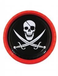 Jolly Roger - Kartongtallrikar till festdukningen 23 cm