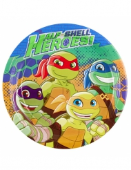 8 Kartongtallrikar från Ninja Turtles™ 23 cm