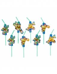 8 sugrör från Ninja turtles™ till kalaset