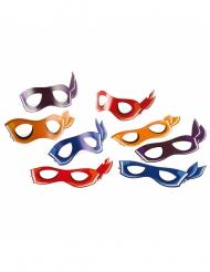 8 kartongmasker från Nunja Turtles™