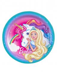 8 Kartongtallrikar från Barbie Dreamtopia™ 23 cm