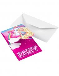 8 Inbjudningskort från Barbie Dreamtopia™