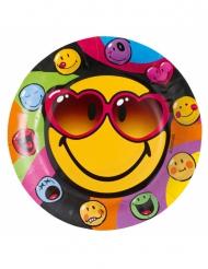 8 tallrikar i kartong från Smiley World™ 23cm