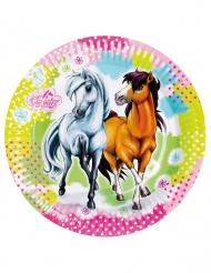 Charming Horses - 8 kartongtallrikar från 23 cm