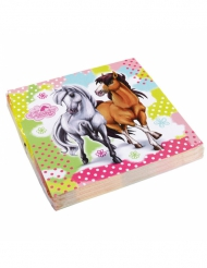 20 pappersservetter från Charming Horses 33 x 33 cm