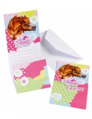 Charming horses - 6 inbjudningskort till kalaset
