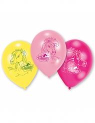 Charming Horses - 6 Ballonger i latex 23 cm