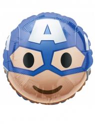 Captain America™ - Aluminiumballong från Emoji™ 43 cm