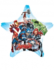 Stjärnformad aluminiumballong från Avengers™ 81 x 81 cm