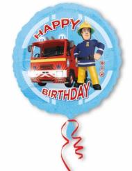 Happy Birthday - Aluminiumballong från Brandman Sam™ 43 cm