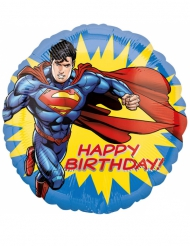 Happy Birthday - Aluminiumballong från Superman™ 43 cm