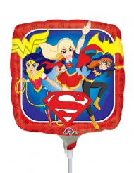 DC Super Hero Girls™ - Fyrkantig Ballong 23 x 23 cm