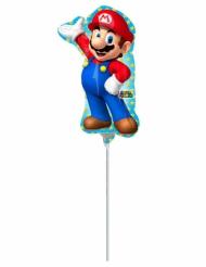 Super Mario™ - Liten ballong i aluminium 20 x 30 cm