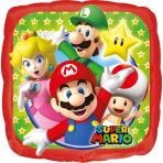 Super Mario™ - Kantig ballong 23 x 23 cm