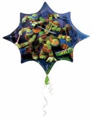 Ballong från Ninja Turtles™ i form av en stjärna 88 x 73 cm