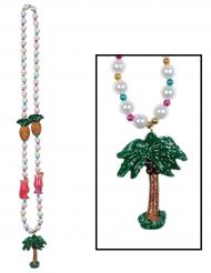 Halsband med cocktails och palmer - Maskeradaccessoar