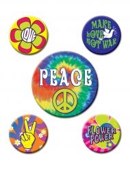 5 pinser i Hippiestil - Maskeradtillbehör