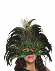 Påfågel - Maskeradmask för vuxna
