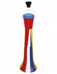 Clownens mångfärgade tuta - Maskeradtillbehör 40 cm