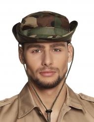 Kamouflagefärgad militärhatt vuxen