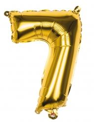 Siffran 7 - Gyllene aluminiumballong 36 cm