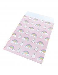 Baby enhörning - 25 papperspåsar till kalaset 17 x 13 cm