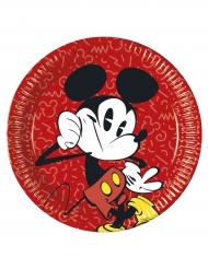 8 kartongtallrikar med retrotryck av Musse Pigg™ 23 cm