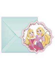 6 inbjudningskort från Disney Princesses™