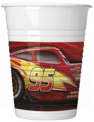 Cars 3™ - 8 muggar i plast till kalaset 200 ml