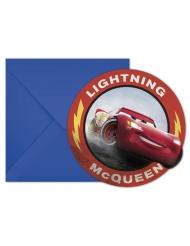 Blixten McQueen - 6 inbjudningskort från Bilar 3